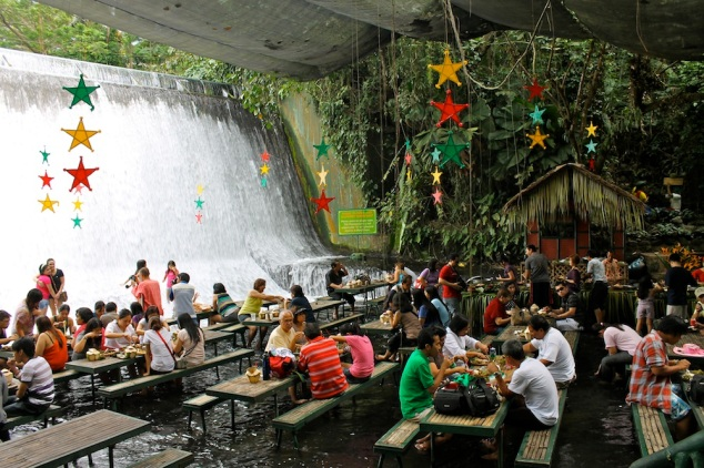 Waterfall Restaurant in San Pablo...coz I thought the picture looked cool.