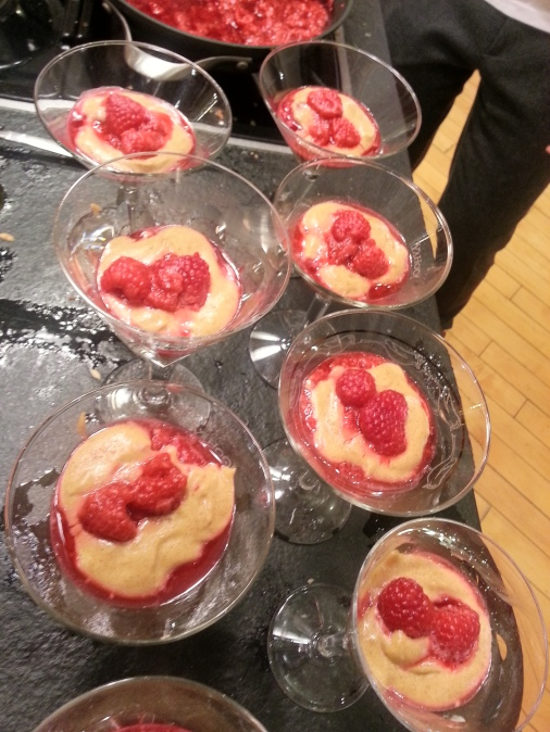 Raspberries with Brown Sugar Zabaglione.