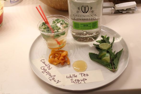 Visayan Summer: Gin, Candied Grapefruit Peels, White Tea Syrup