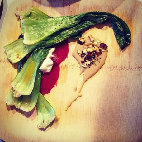 LUNTI-AN // Roasted Bok Choy, Beets, Yogurt, Tahini, Pili Nuts.