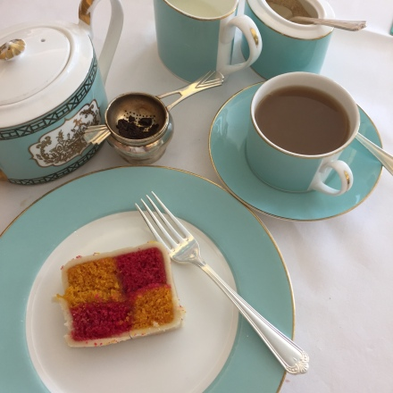 Battenburg Cake at Fortnum & Mason