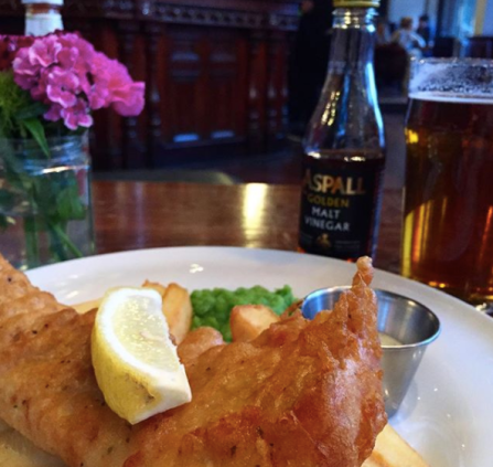 Fish & Chips at the Castle by Holland Park